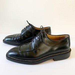Bruno Magli Black Split Toe Oxford  Size 7.5 M
